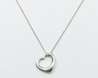 TIFFANY Elsa Peretti Open Heart Necklace - Med