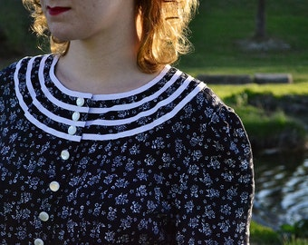 Vintage 1980s does 1940s Rayon Dress