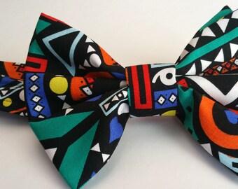 multicolored bow tie. neck tie