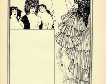 4 Antique Beardsley Prints - 1897
