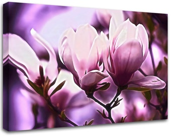 Modern painting Flower, abstract art , canvas print