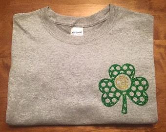 Monogrammed shamrock St. Patrick's Day shirt