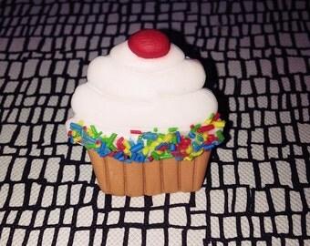 Cute Sweet Kawaii OOAK Adjustable Sprinkled Cupcake Ring