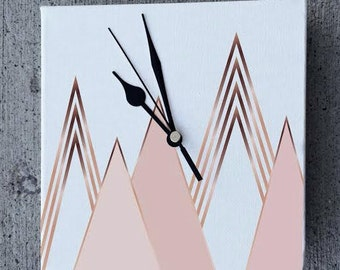 Desk Clock: Mountains, Print Avenue