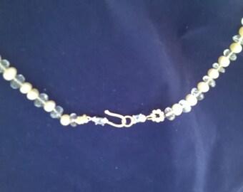 Aqua Marine, Pearls,sterling silver.