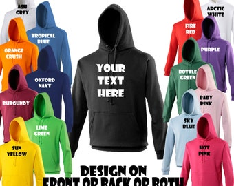 Personalised Hoodie.Stags,Hens,Workwear,Holidays,Photo ansd Text up to 5XL
