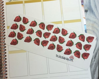 Strawberry date cover up stickers. Perfect for any life planner!