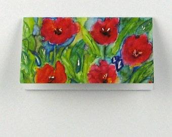 Mini Gift Cards Folded, Tulips, Original Design