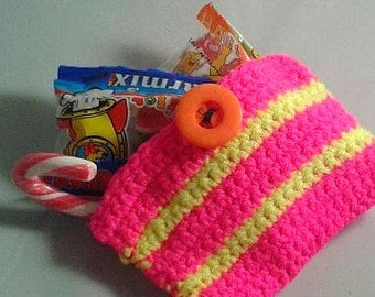 SALE- Party Bag, crochet kids bag, party favours, sweet bags, party accessory, Christmas present, budget gift, wholesale options