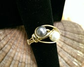 Brass Double Glass Pearl ...