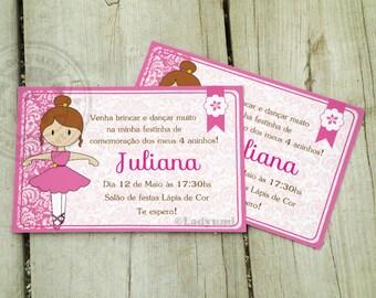 Ballerina Printable Invitation Little Ballerina Printable Invitation Kids Party