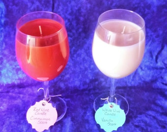 Wine glass candles, candles