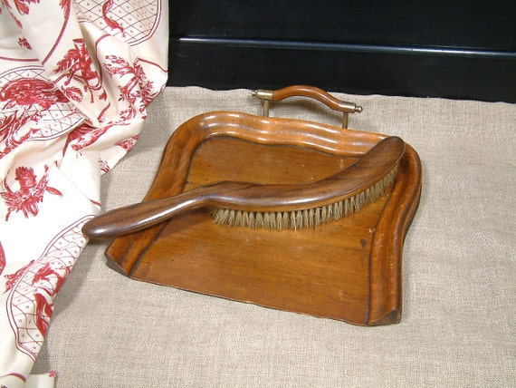 Antique Silent Butler Crumb Sweeper And Crumb Tray Antique