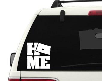 HOME state- North Dakota vinyl decal sticker
