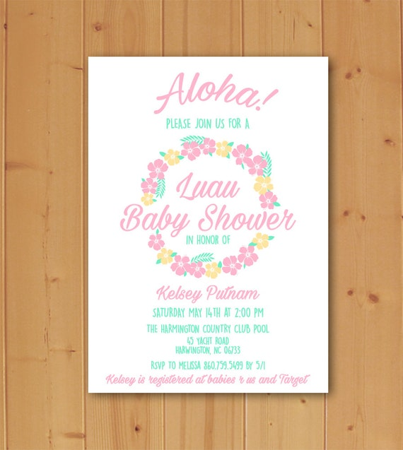 luau baby shower hawaiian baby shower summer baby shower luau baby