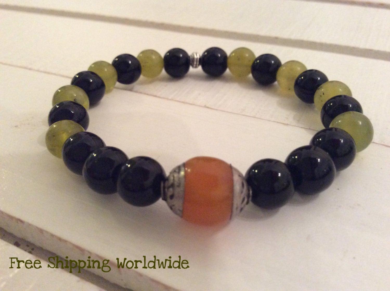 mens bracelet tibetan s bracelet black and green