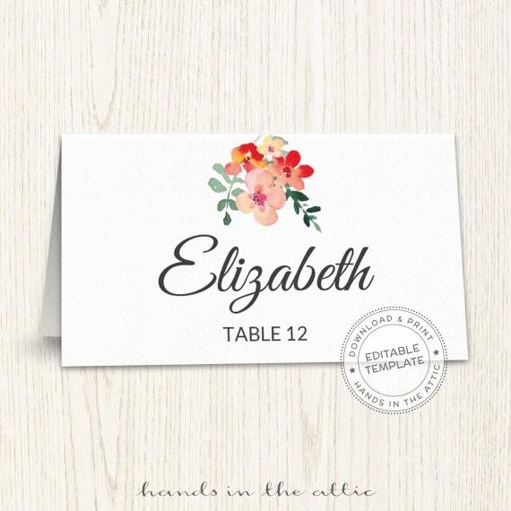 Unique wedding printables wedding templates diy wedding placecards il570xn solutioingenieria Gallery