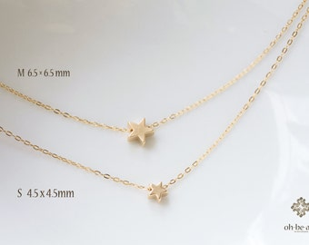 Dainty Star Necklace -  dainty star necklace - minimal gold necklace - 14k gold filled necklace - simple  jewelry-