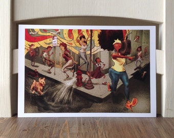 Boombox - 12x8 Art Print