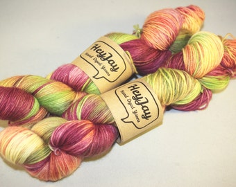Sock Yarn 100% Superwash Merino Peachy Pie