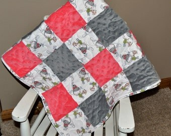 Handmade Fox and Little Girl Quilt