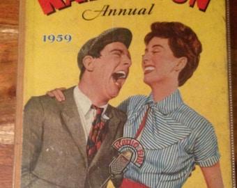 1959 Radio Fun Annual - Norman Wisdom cover in good condition