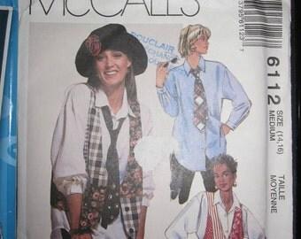 BOSS 6112 MCCALLS Blouse / bolero / tie for women