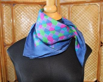 Florio Milan Bright vintage silk scarf