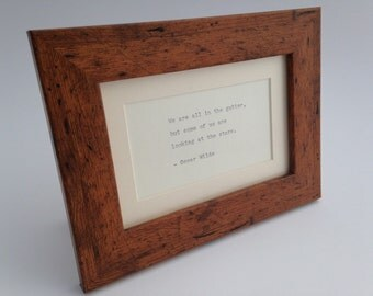Rustic wood effect frame with hand-typed quote of your choice birthday gift anniversary wedding thank you girlfriend boyfriend