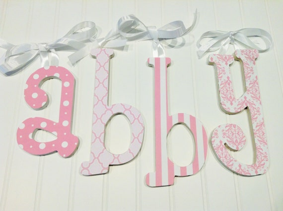 nursery letters hanging nursery letters pink by With white nursery letters
