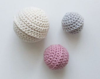 crochet ball, crochet balls set, baby ball, baby toy, ball,toddler ball