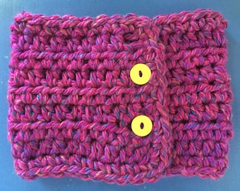 Pink multi colored crochet toddler cowl