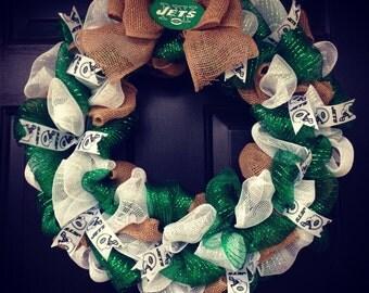 NFL New York NY jets wreath