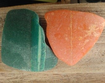 Surf tumbled buoy pieces , beach finds 2 pieces