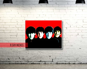 Beatles | Red | Pop Art