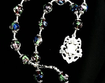 Antique Sterling Watch Fob Necklace and Earrings set