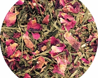 Sencha Green Tea + Chocolate & Roses  - Tea Cleanse | A soothing combination for every tea lover | Antioxidants | Makes a great gift