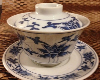 Vintage 5-Piece China Airlines Ceramic Place Setting
