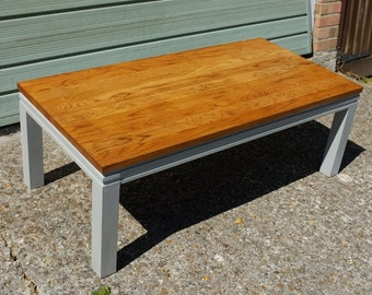 Grey and Dark wood Coffee Table