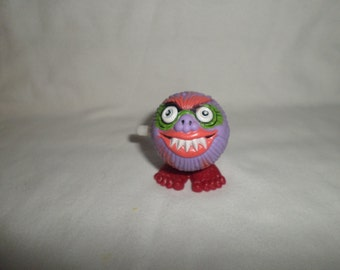 Mad Balls Fangs Purple Soma Wind up 1980's ugly monster vintage