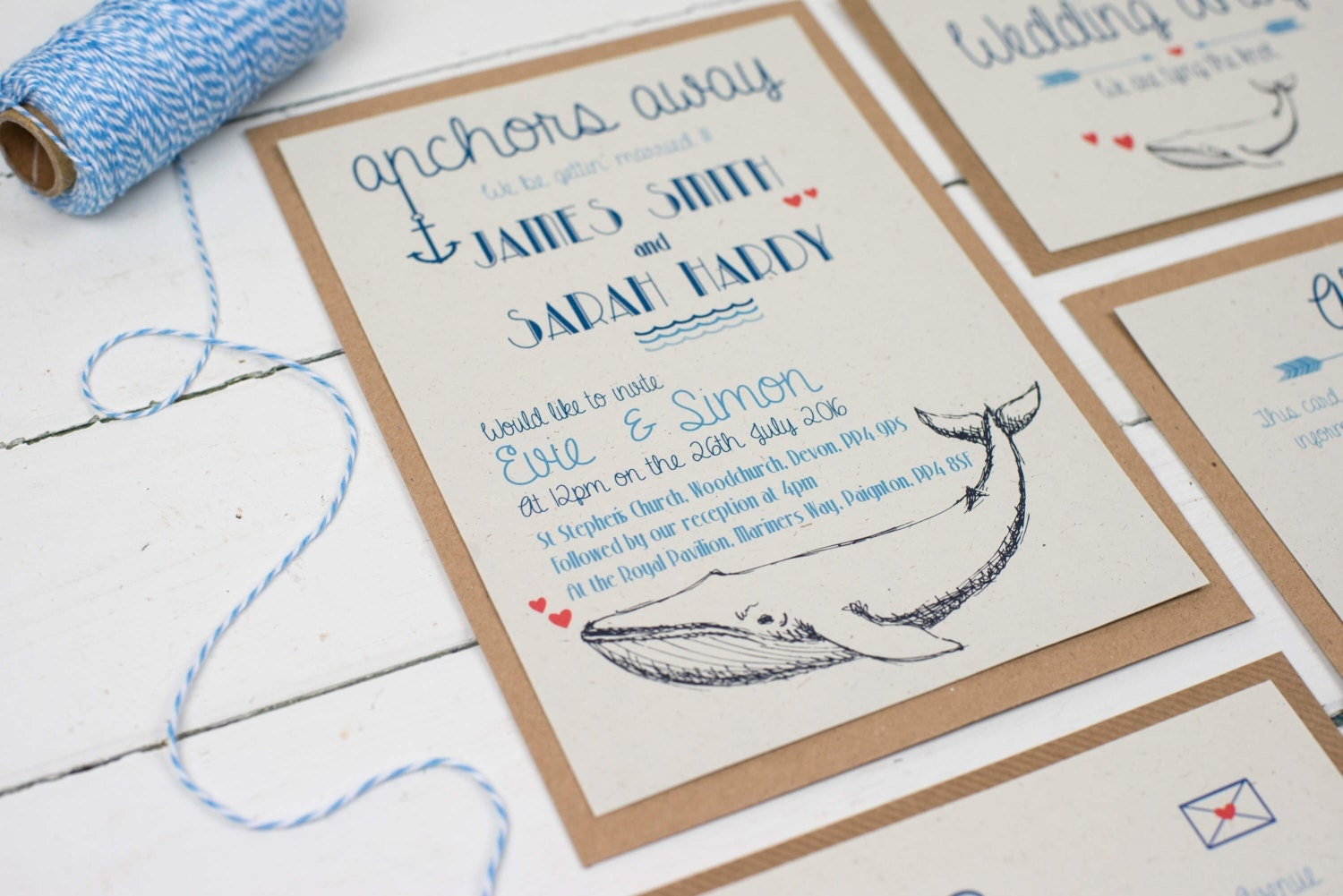 Whale of a Time Wedding Invitations Handmade Wedding – Handmade Beach Wedding Invitations