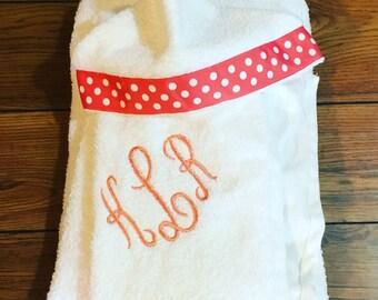Monogrammed Hooded Towel