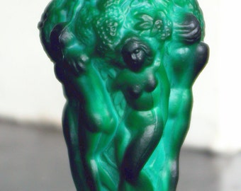 Curt Schlevogt Ingrid Art Nouveau Malachite Vase Female Figures