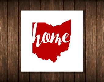 Ohio Home Red DIGITAL DOWNLOAD 4x4