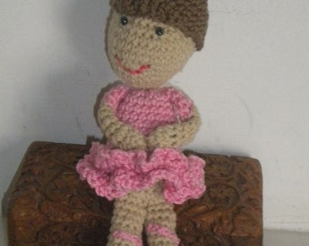 Pattern Crochet ballerina doll