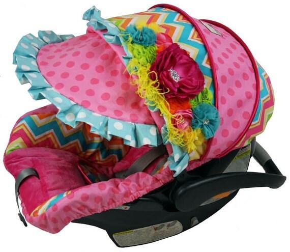 Custom Car Seat Covers 4 Pc Set Baby Car Seat Covers Chevron