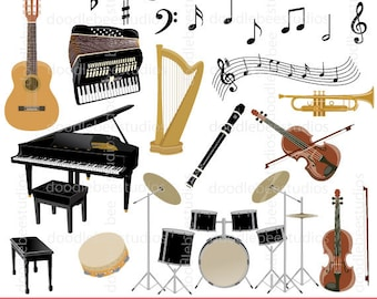 Musical Instruments Clip Art Music Notes Clipart Grand Piano Violin