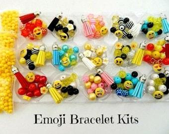 Emoji Party Favors DIY Bracelet Kits Makes 15 Bracelets