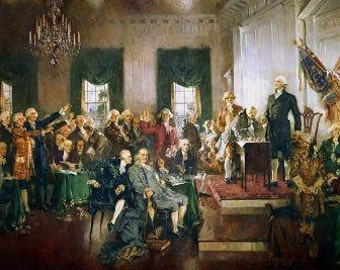 Scene At The Signing Of The U.S. Constitution - Poster 8 x 10 By Howard Chandler Christy