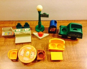 Fisher Price Little People Sesame Street Accessories Set #938